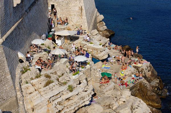 Lounging in the Sun in Dubrovnik