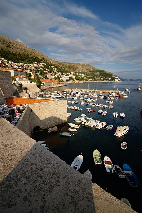 Boats in the Harbour of Dubrovnik
