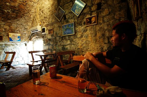 Jason in a Hidden Tavern in Dubrovnik
