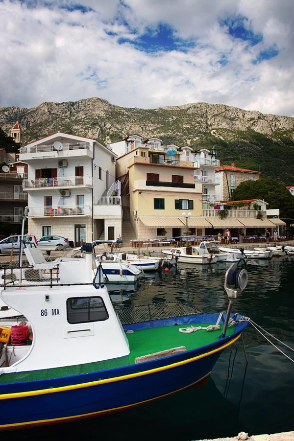Boat and Town in Croatia