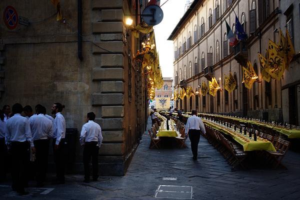 Contradas Dinner in Siena