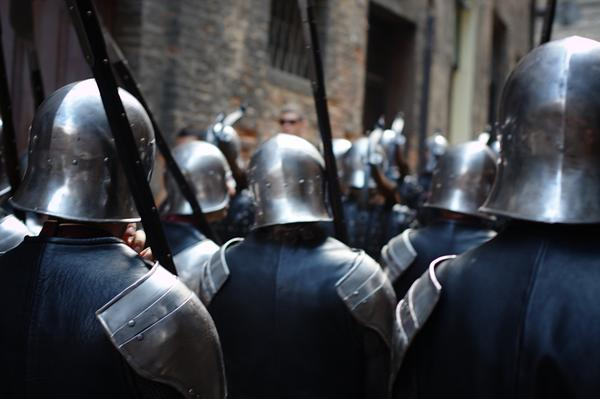 Armoured Guards in Siena