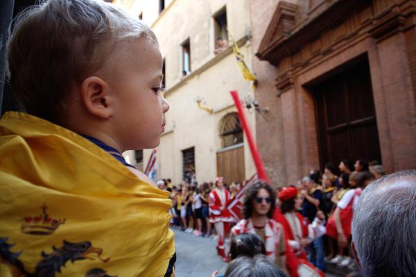 Kid watching the Parade